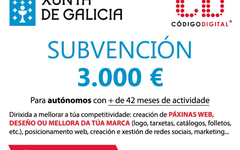Subvención de 3.000€ para autónomos